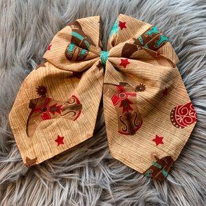 Handmade western girls hair bow